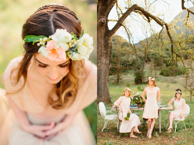 lovely-event boho wedding corona de flores